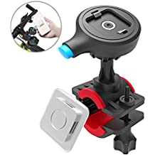 TONGYE Bike Phone Mount Bicycle Holder Cycling Accessories with One-Second Lock, One-Button Release, for iPhone X / 8 / 7 / 7 Plus / 6s / 6s Plus, Samsung Galaxy S8 / S8 Plus / S7 / S7 Edge, Etc.
