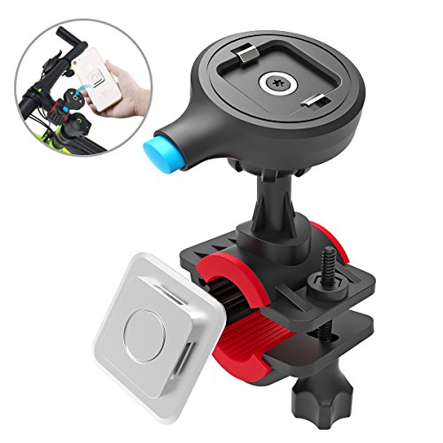 Mens Neo Icon - TONGYE Bike Phone Mount Bicycle Holder Cycling Accessories with One-Second Lock, One-Button Release, for iPhone X / 8 / 7 / 7 Plus / 6s / 6s Plus, Samsung Galaxy S8 / S8 Plus / S7 / S7 Edge, Etc.