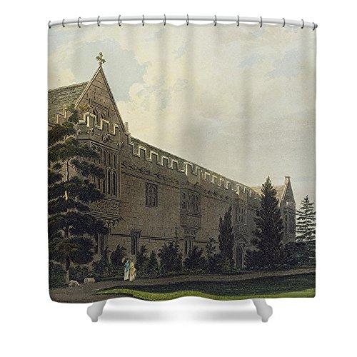 Pixels Shower Curtain  74  X 71    St Johns College Seen From The Garden
