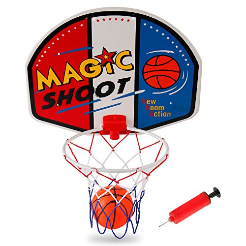 (Liberty Imports Magic Shot Mini Basketball Hoop Set with Ball and Pump (Single))