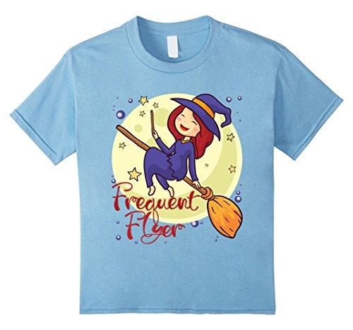 Top Ten Coolest Halloween Costumes (Kids Frequent Flyer Tee - Good Witch Halloween Shirt 10 Baby Blue)