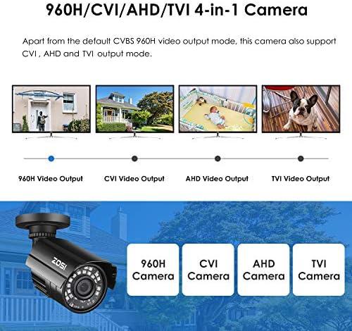 ZOSI 1080P Hybrid 4-in-1 HD TVI/CVI/AHD/CVBS 1920TVL 2.0MP CCTV Camera Home Security System 80ft Day/Night Vision Metal Waterproof Housing For 960H,720P,1080P,5MP,4K analog Surveillance DVR 51XykHa3rNL