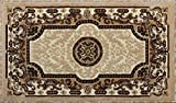 Traditional Door Mat Area Rug Design Kingdom D 123 Ivory (24 Inch X 40 Inch) Review