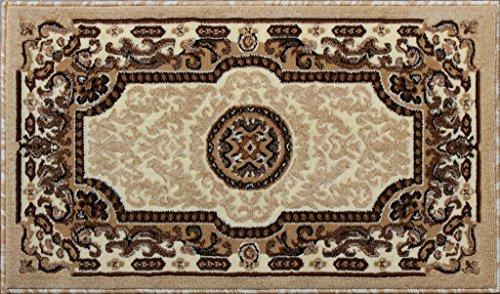 Ivory Door Mat - Traditional Door Mat Area Rug Design Kingdom D 123 Ivory (24 Inch X 40 Inch)