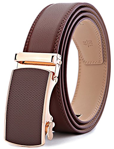 (Men's Belt,Bulliant Slide Ratchet Belt for Men with Genuine Leather 1 3/8,Trim to Fit)