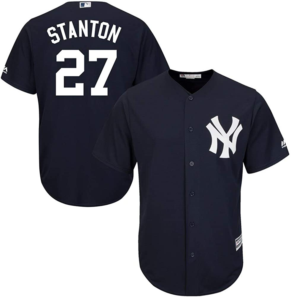 Outerstuff Giancarlo Stanton MLB Majestic Boys Youth 8-20 Navy Alternate Cool Base Replica Jersey
