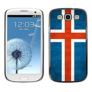 Shell-Star ( National Flag Series-Iceland ) Snap On Hard Protective Case For Samsung Galaxy S3 III / i9300 i717