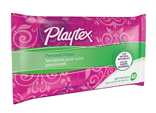 Feminine Wipes (Playtex Personal Cleansing Cloths Refill Pack, Fresh Scent, 48-Count Package (Pack of 3))