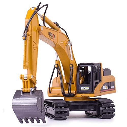 Ailejia Alloy Excavator Construction Truck Toy Tractor Boy Toy Manual Excavator Metal Construction Equipment Models