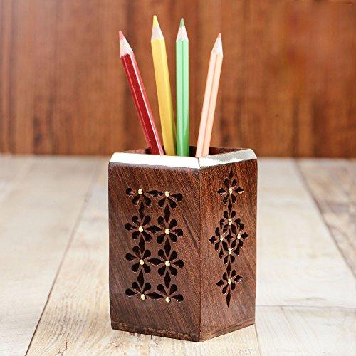 Rusticity Wooden Pen / Pencil Holder for Desk | Handmade |