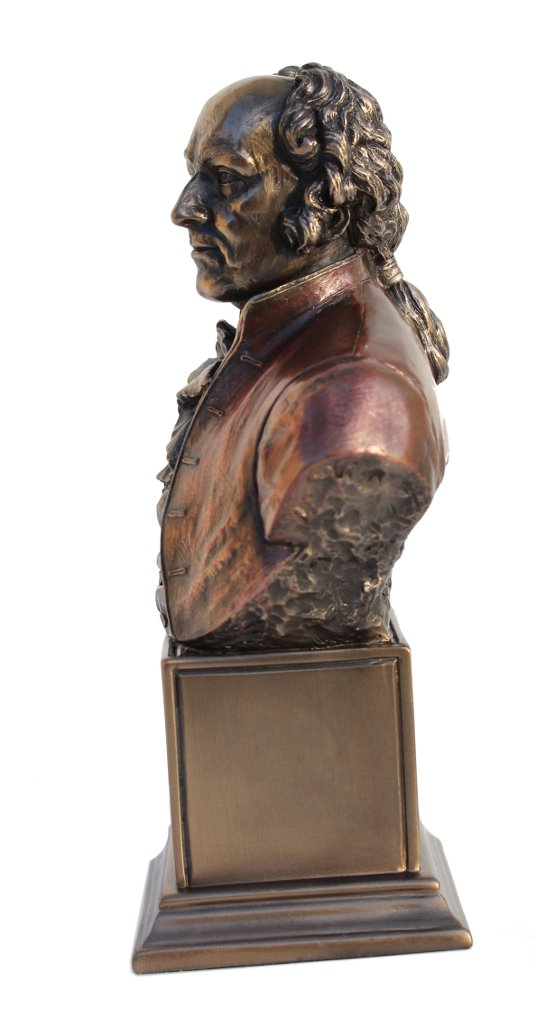 John Adams, Jr. Bust Statue Cold Cast Bronze 7 1/2 Inch Tall by Unknown