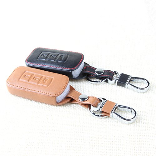 9-moon-leather-key-chain-ring-cover-case-holder-for-mitsubishi-asx-outlander-lancer-ex