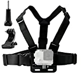 TEKCAM Adjustable Chest Belt Strap Mount Harness with J-Hook Mount for Gopro Hero 6 5 Black AKASO EK7000 4K Pictek APEMAN Action Sports Outdoor Camera