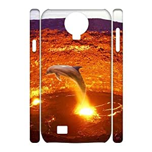 LZHCASE Diy Case Dolphin Cover For Samsung Galaxy S4 i9500 [Pattern-1]