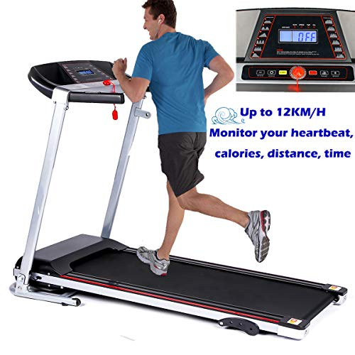 SUNYAL ROAD Electric Treadmill for Home,12.0KM/H Motorized Power Fitness Running Machine,with Pad holder