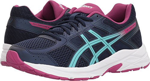 Asics Womens Contend 4 Peacoat Porcelain Blue Fuschia Red 8 5 M Womens