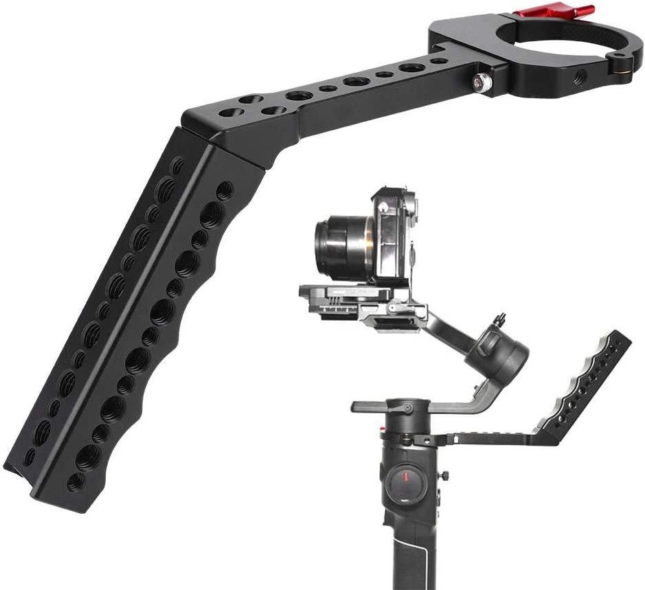 Mugast Metal Stabilizer Hand Grip,Portable Camera 3-Axis Extension Handheld Arm Holder Bracket Gimbal Stabilizer with Multiple 1//4 and 3//8 inch Screw Holes for MOZA AIR2