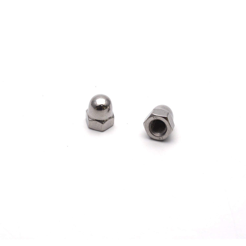 Antrader Steel Acorn Nut 20-Pack 3//8-16 Thread Dia Dome Cap Head Nickel Plating Carbon Hex Nuts Screws Bolts
