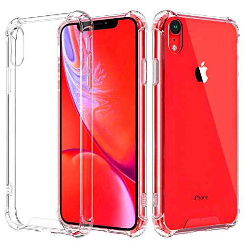 Compatible with iPhone XR Case, [3-Pack] Anti-Scratch Shock Absorption Cover TPU Cushion Protection Case for iPhone XR (2018) [6.1 ONLY] - Crystal Clear
