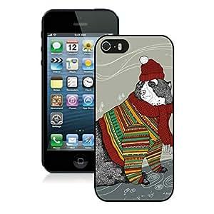linJUN FENGPopular Design Iphone 5S Protective Cover Case Christmas Bear iPhone 5 5S TPU Case 2 Black