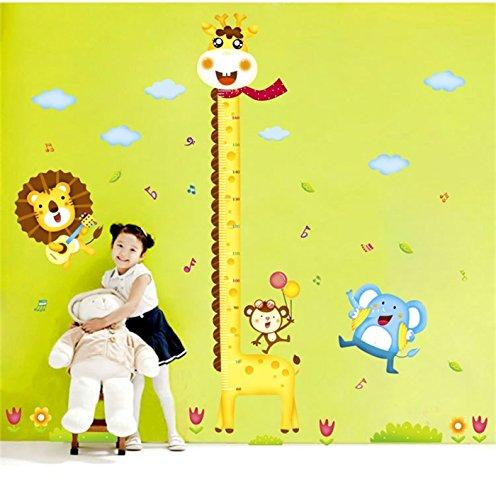 Animals Elephant Giraffe Height Measurement Wall Sticker - 7
