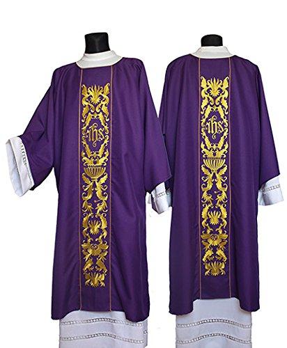 Christian Brands Church Supply YS923PRP IHS Dalmatic - Purple