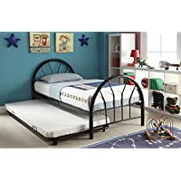 ACME Furniture 30450T-BK Silhouette Bed, Twin, Black