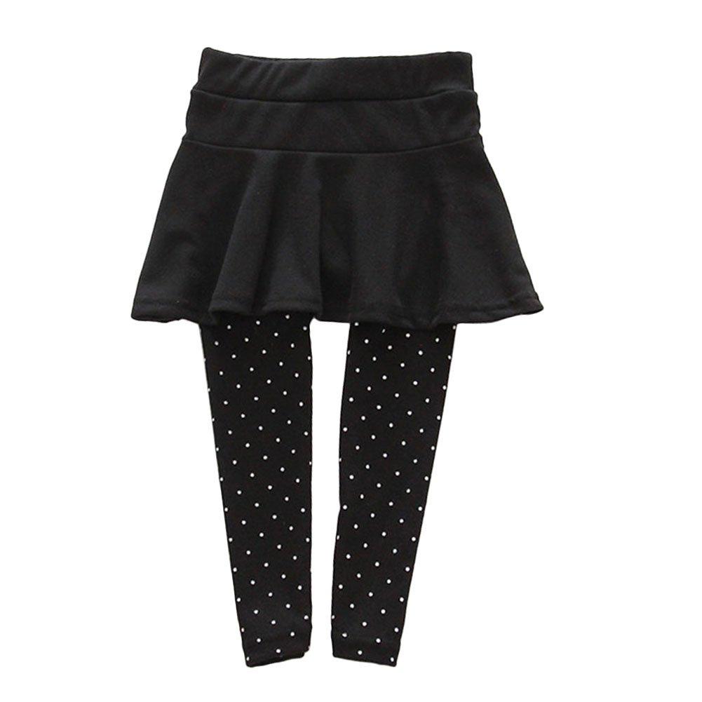 Froomer Little Girls Wool Lycra Culotte Dots Leggings Trousers Pantskirts