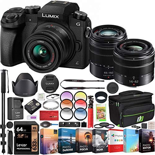 Panasonic LUMIX G7 4K Digital Mirrorless Camera 2 Lens Kit LUMIX G...