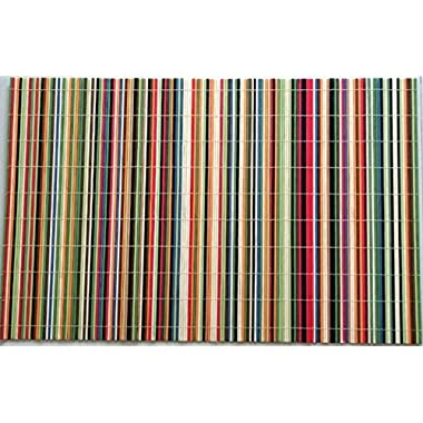 Benson Mills Rainbow Sticks Bamboo Multi Colored Placemats, Set of 4