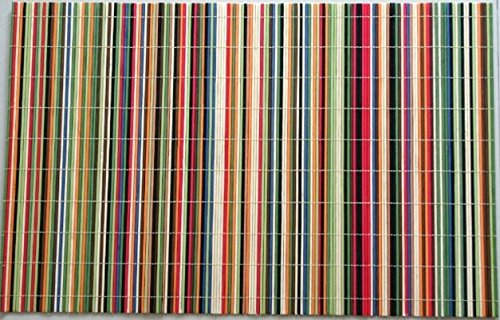 Benson Mills Rainbow Sticks Rayon from Bamboo Multi Colored Placemats, Set of 4