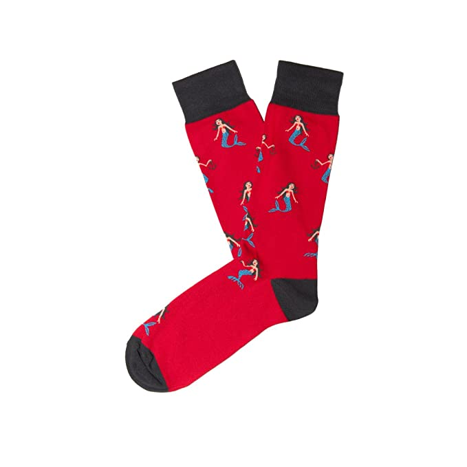 Jimmy Lion Mermaids-Rojo, Calcetines Unisex, 36-40