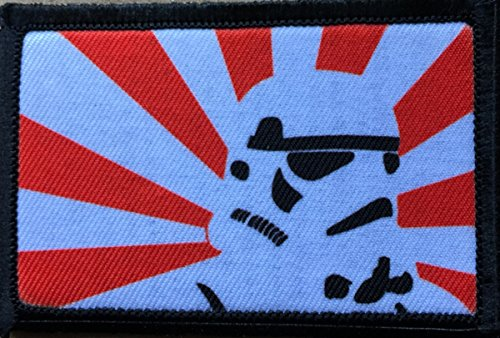 Star Wars Rising Sun Stormtrooper Morale Patch. Perfect for your Tactical Military Army Gear, Backpack, Operator Baseball Cap, Plate Carrier or Vest. 2x3 Hook and Loop Patch. Made in the USA