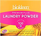 Biokleen Laundry Detergent Powder, Concentrated, Eco-Friendly, Non-Toxic, Plant-Based, No Artificial Fragrance, Colors or Preservatives, Premium Plus, 5 Pounds - 108 HE Loads/54 Standard Loads