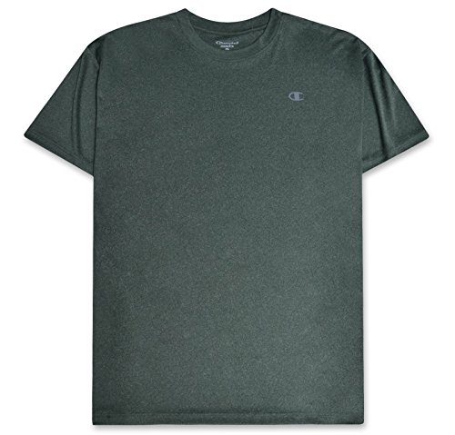 (Champion Mens Big and Tall Active Performance T Shirt with Moisture Wicking Technology Dark Green Heather 3X)