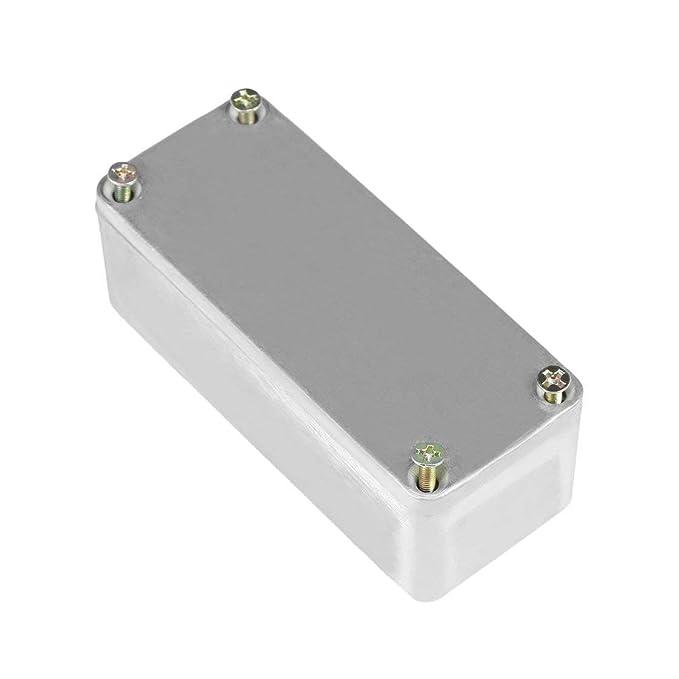 Kit de Instrumentos Musicales de Aluminio Port/átil Caja de Pedal Stomp Caja de Pedal de Efectos de Efectos de Guitarra Estilo Estuche Titular