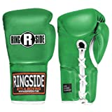 Ringside Professional Fight Gloves (Green, 10-Ounce)