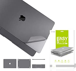 VFENG Premium 6 in 1 3M Vinyl Full Body Skin Sticker Decals for MacBook Pro 13.3 Inch 2020+ (Model: A2251) with High Clear Screen Protector -Gray
