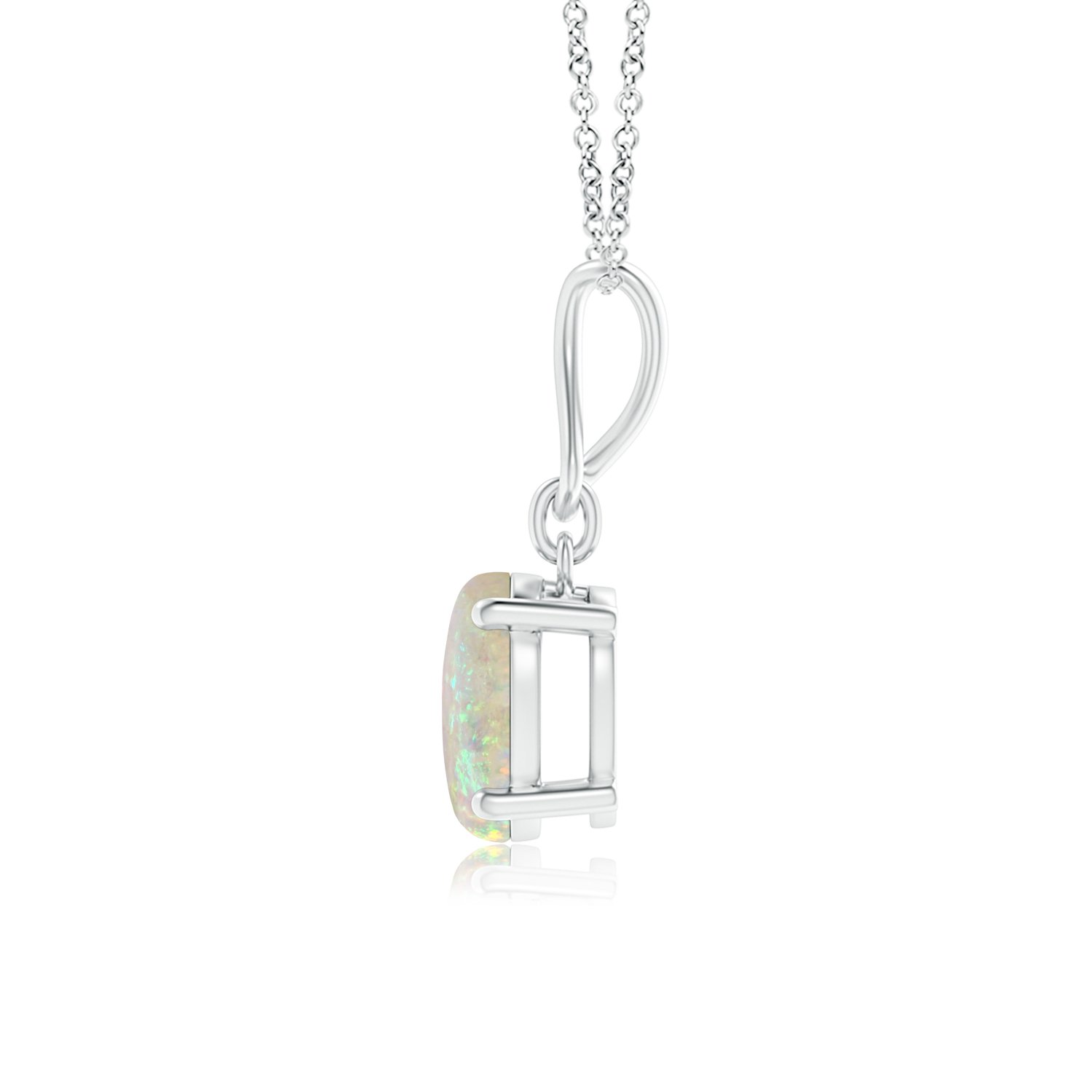 Solitaire Oval Opal Infinity Drop Necklace Pendant Necklace for Women