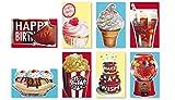 Assorted Handmade Embellished Scratch n' Sniff Birthday Cards Box Set 8 Pack Birthday Cards Bulk Bday Card Assortment