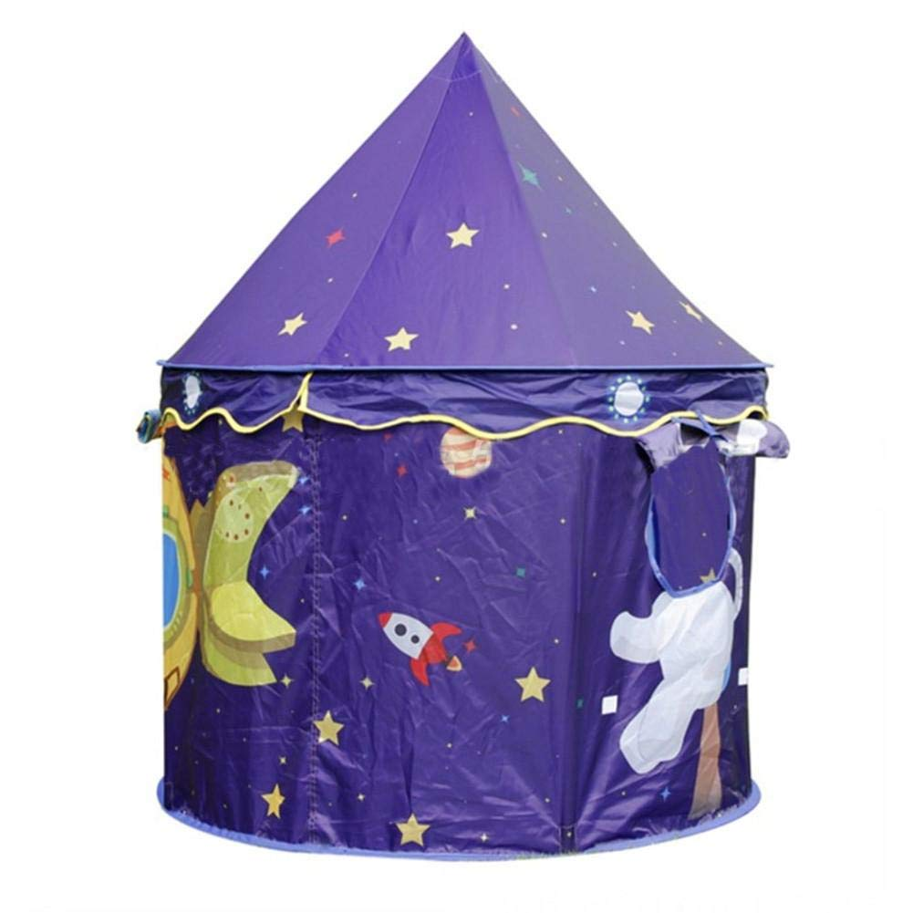 HEIRAO Tende da Gioco robuste Pieghevoli Tema Spaziale Adorabile per casetta per Giocare a Castello Tenda da Gioco per Bambini Giochi per Bambini al Coperto e allaperto