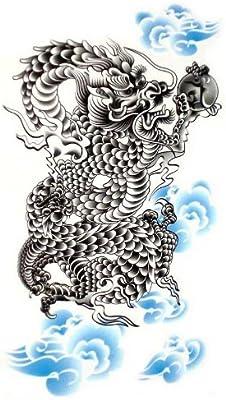 Falso impermeable Tempo rary Tatuajes poderoso Dragón Sexy con One ...