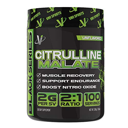 VMI Sports Citrulline Malate 2:1 Powder – Massive Muscle Pumps & Vascularity, Improves Vascularity & Athletic Endurance, Boost Nitric Oxides & Muscle Recovery, Unflavored, 100 Servings, 7.06 Ounce