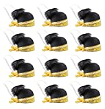 Beistle 60048 12 Piece Sequined Flapper Hats, Black/Gold/White