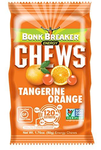 Bonk Breaker Nutrition Energy Chews, Tangerine Orange, 1.76 Oz (10 Count), Gluten Free & Dairy Free