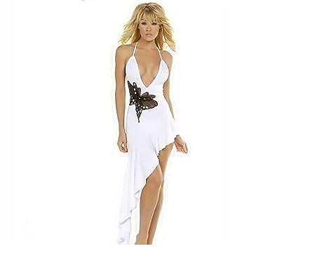 Reizvoller elegantes weißes Kleid-Kleid-Inklusive String (32-34 ...