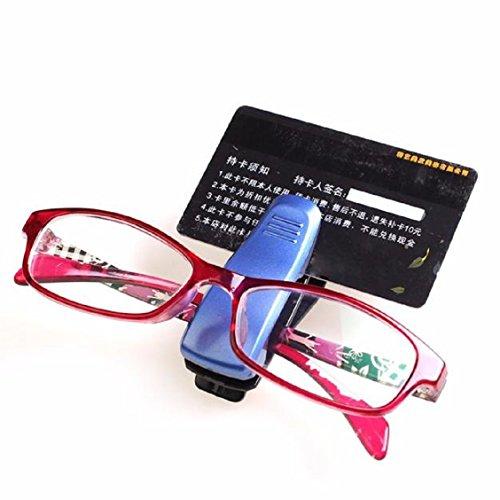 Naladoo Fashion Car Sun Visor Glasses Sunglasses Ticket receipt Card Clip Storage - Aux Sunglasses
