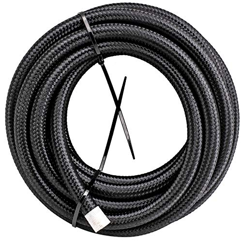 AN6-6AN 20FT Nylon Stainless Steel Braided Fuel Hose 20 feet+AN6 Push Lock Hose End 10pcs by Tuningsworld (Image #5)