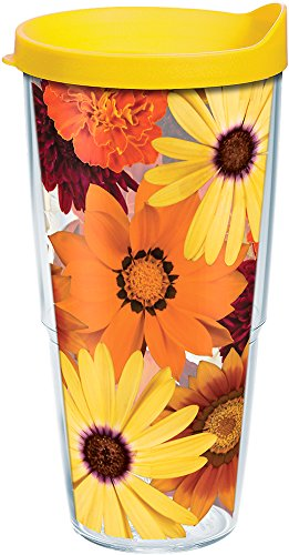 Tervis 1177241 Fall Arrangement Tumbler with Wrap and Yellow Lid 24oz, ()