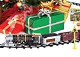Ginzick Rc Remote Control Super Fun Electric Train Set with Lights Sounds Real Smoke Train Signs and Accessories